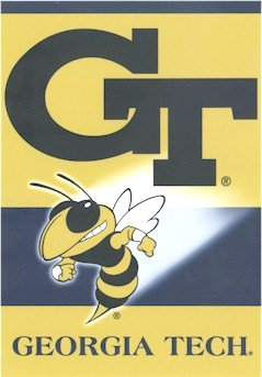Georgia Tech University House Flag 2 Sided
