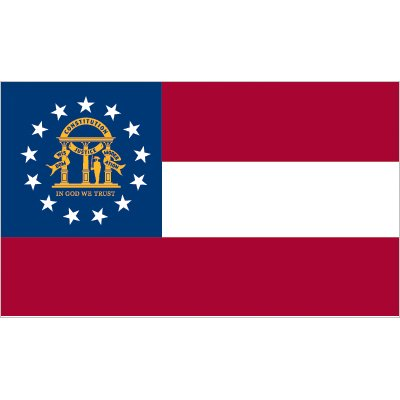 Georgia Flag - Nylon