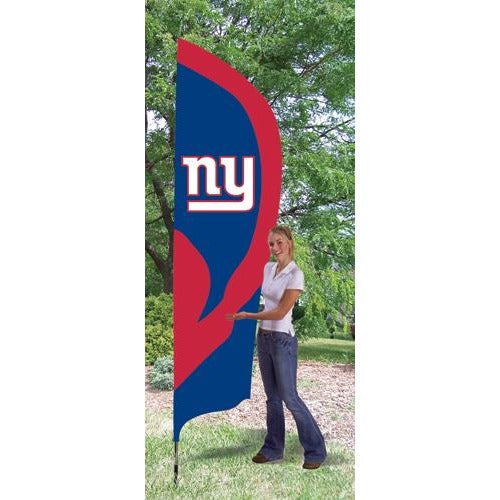 New York Giants 8ft Feather Sewn Flag Kit