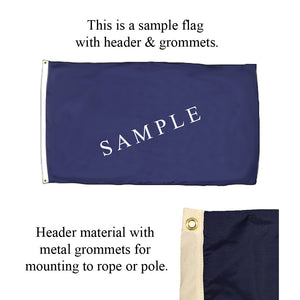 Header and grommets flag sample
