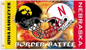 University of Iowa / University of Nebraska Border Battle 3x5ft Flag