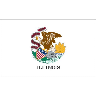 Illinois Flag - Industrial Polyester