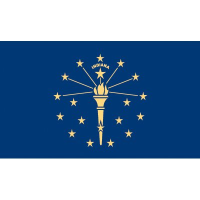 Indiana Flag - Industrial Polyester