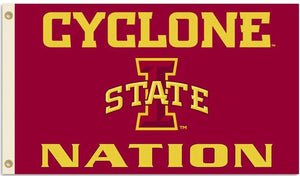 Iowa State University Cyclone Nation 3x5ft Flag