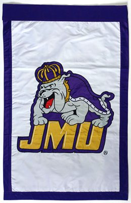 James Madison University House Sewn Flag 2 Sided