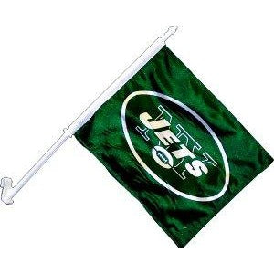 New York Jets Car Flag 2 Sided