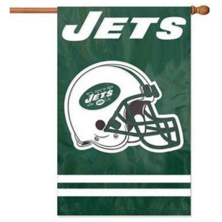 New York Jets House Sewn Flag 2 Sided