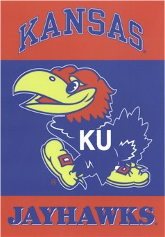 University of Kansas House Flag 2 Sided