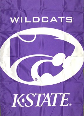 Kansas State University House Flag 2 Sided