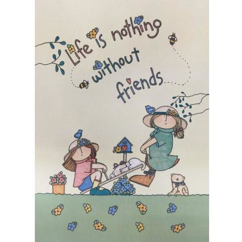 Life Is Nothing Without Friends - House Flag - FlagsOnline.com by CRW Flags Inc. - 2