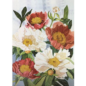 Peonies - House Flag - FlagsOnline.com by CRW Flags Inc.