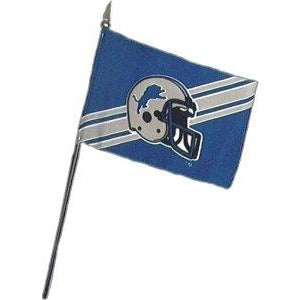 Detroit Lions 4x6in Stick Flag