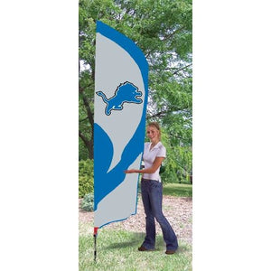 Detroit Lions 8ft Feather Sewn Flag Kit