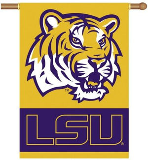 Louisiana State University House Flag 2 Sided