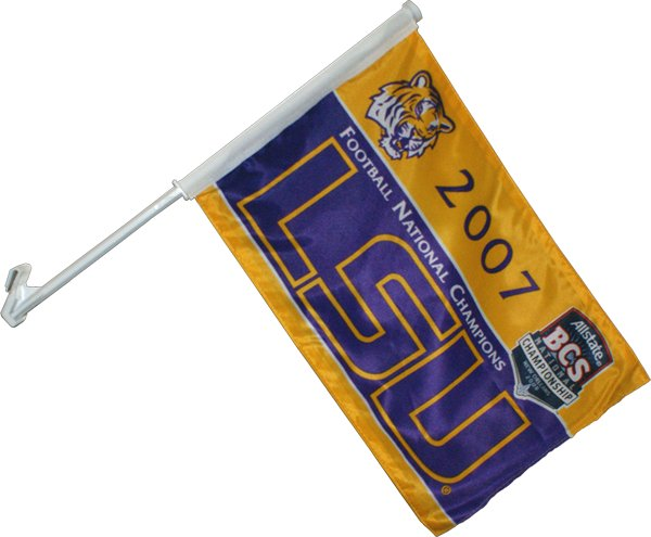 Louisiana State University 2007 Champs Car Flag 2 Sided