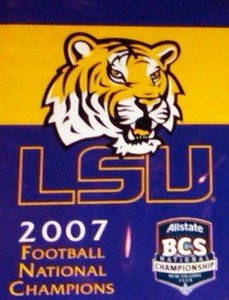 Louisiana State University 2007 Champs Garden Flag 2 Sided