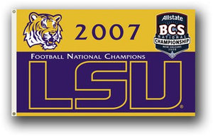 Louisiana State University 2007 Champs 3x5ft Flag