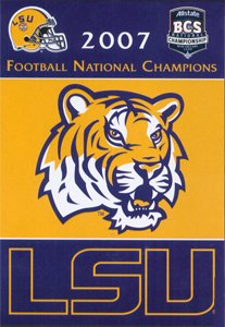Louisiana State University 2007 Champs House Flag 2 Sided