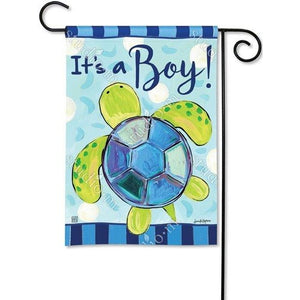 It's A Boy - Sea Turtle - Garden Flag