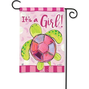 It's A Girl - Sea Turtle - Garden Flag