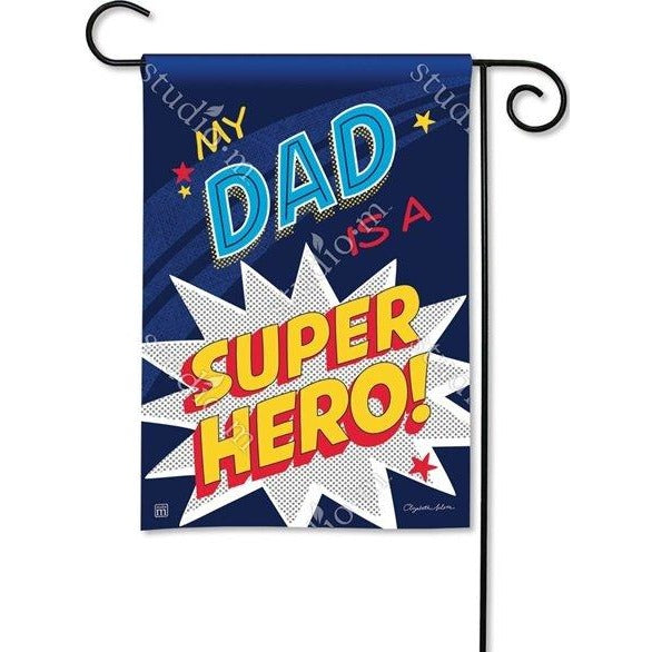 Dad Super Hero - Garden Flag