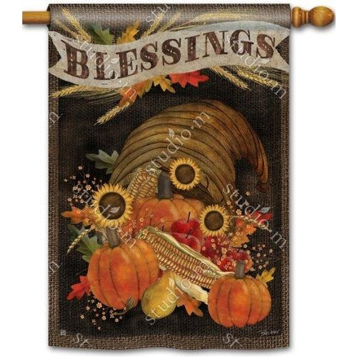 Cornucopia Blessings - Garden Flag