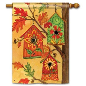 Fall Birdhouses - House Flag