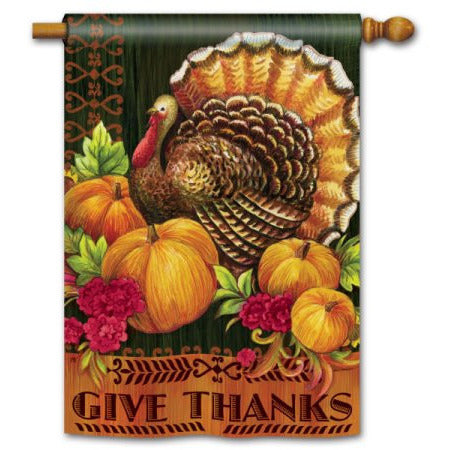 Give Thanks Turkey - House Flag - FlagsOnline.com by CRW Flags Inc.
