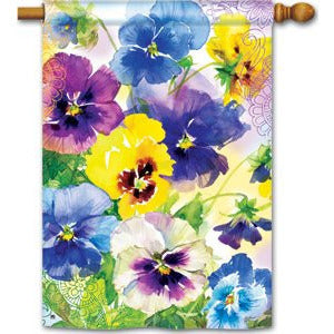 Mixed Pansies - House Flag - FlagsOnline.com by CRW Flags Inc.