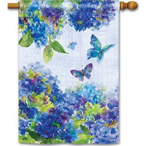 Blue Hydrangea - House Flag - FlagsOnline.com by CRW Flags Inc.