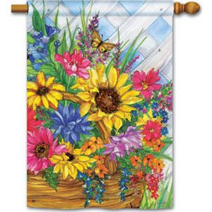 Blooming Basket - Garden Flag