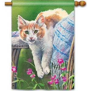 Kitty Cool Down - Garden Flag - FlagsOnline.com by CRW Flags Inc.