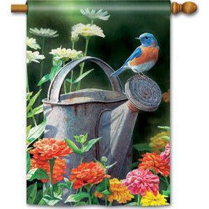 Garden Bluebird - House Flag - FlagsOnline.com by CRW Flags Inc.