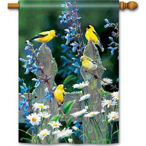 Finch Fencepost - Garden Flag - FlagsOnline.com by CRW Flags Inc.