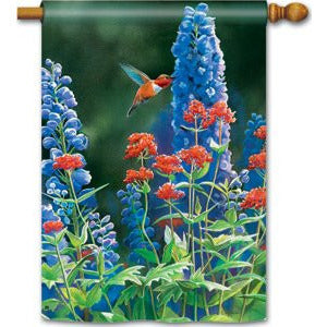 Hummingbird Flight - Garden Flag