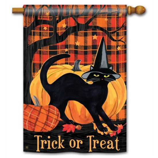 Witch Hat Cat - House Flag - FlagsOnline.com by CRW Flags Inc.