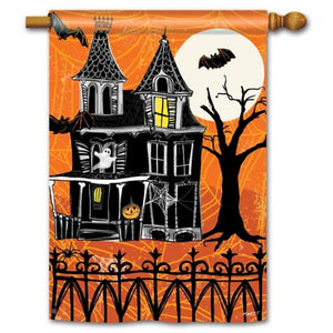 Haunted House - House Flag - FlagsOnline.com by CRW Flags Inc.
