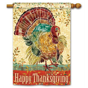 Thanksgiving Turkey - Garden Flag - FlagsOnline.com by CRW Flags Inc.