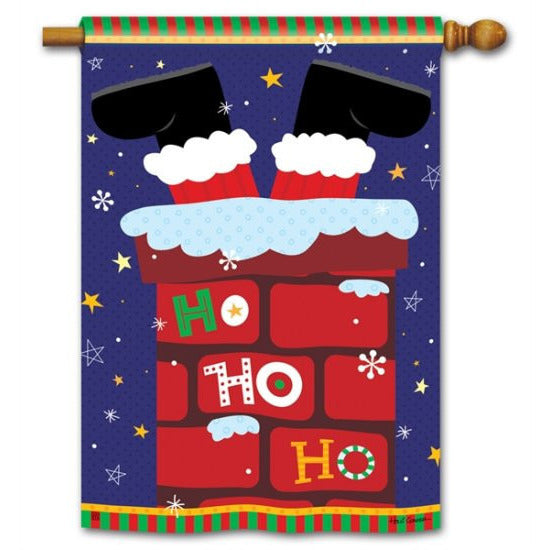 Santa Stop Here - House Flag - FlagsOnline.com by CRW Flags Inc.