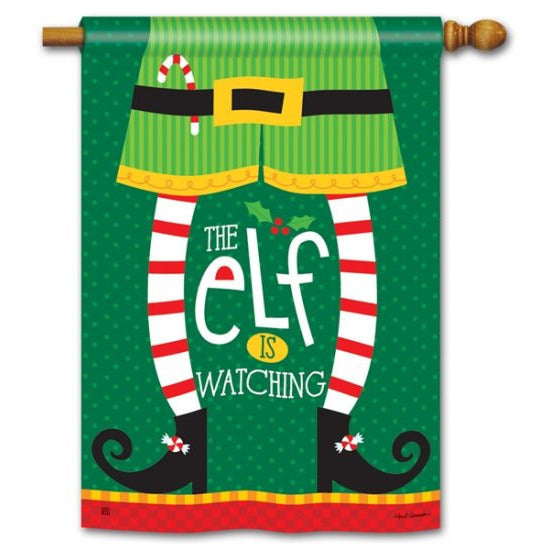 Elf is Watching - House Flag - FlagsOnline.com by CRW Flags Inc.