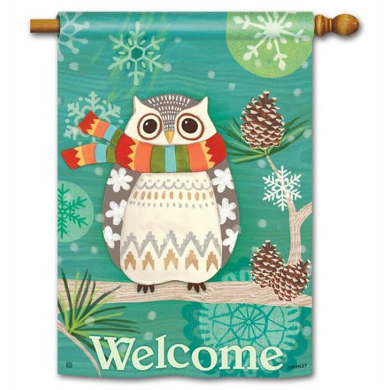 Winter Owl - Garden Flag