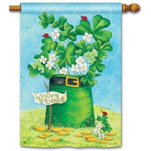 Shamrocks and Ladybugs - Garden Flag
