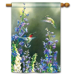 Hummingbird Garden - House Flag