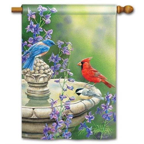 Birdbath Gathering - House Flag