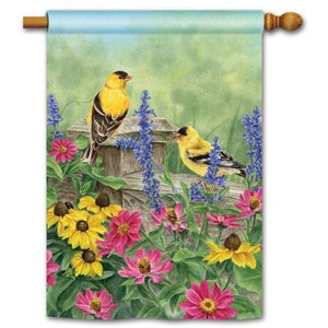 Garden Finches - House Flag