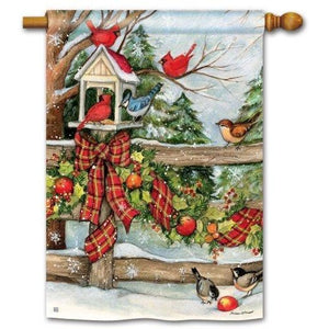 Winter Gathering - Garden Flag
