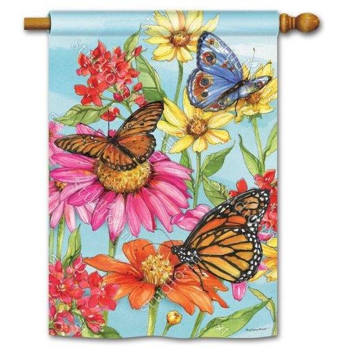 Field Of Butterflies - House Flag