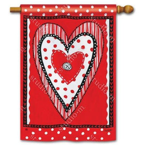 Button Valentine - Garden Flag