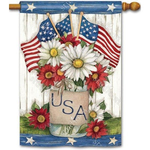 USA Mason Jar - Garden Flag