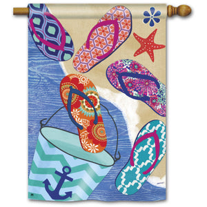 Flip Flop Summer - Garden Flag - FlagsOnline.com by CRW Flags Inc.